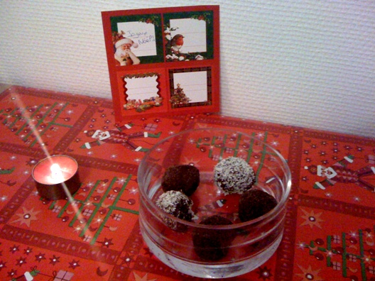 Truffe au chocolat et coco