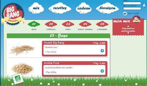 Céréales en ligne