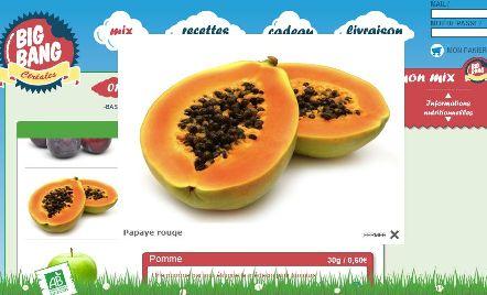 céréales fruit papaye